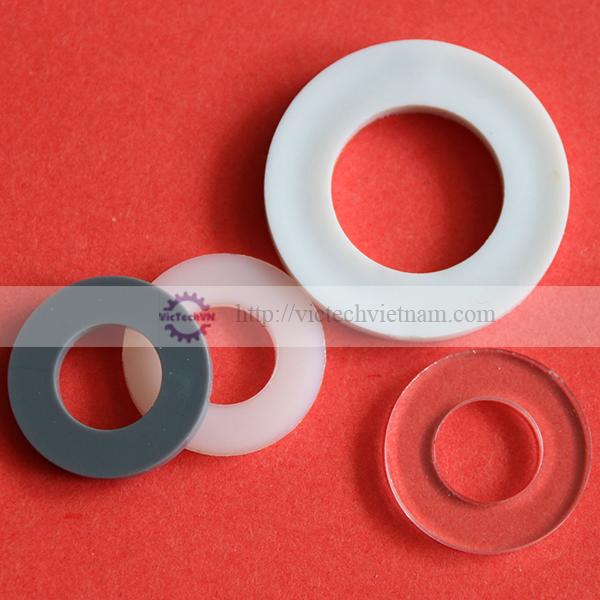 Đệm phẳng nhựa PA66/PC/PP/PVC/PPS/PVDF
