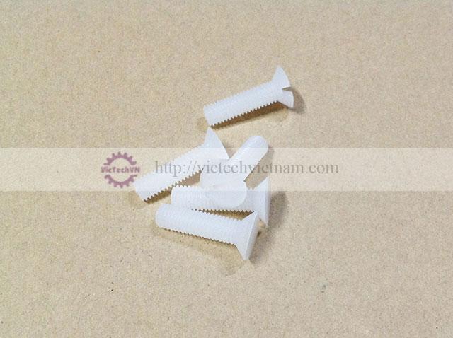 Ốc nhựa 1 rãnh PVDF