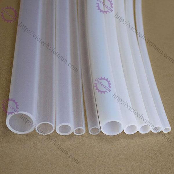 Ống cao su chịu nhiệt Teflon màu trắng sữa