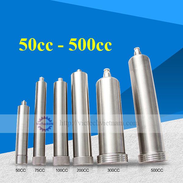 Ống tiêm chịu nhiệt bằng thép không gỉ 50 - 500cc