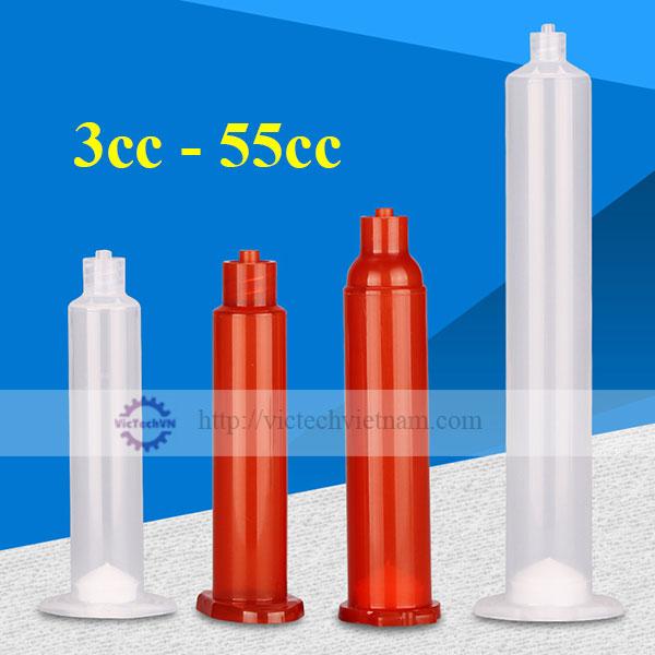 Ống tiêm nhựa piston vít 3cc - 55cc
