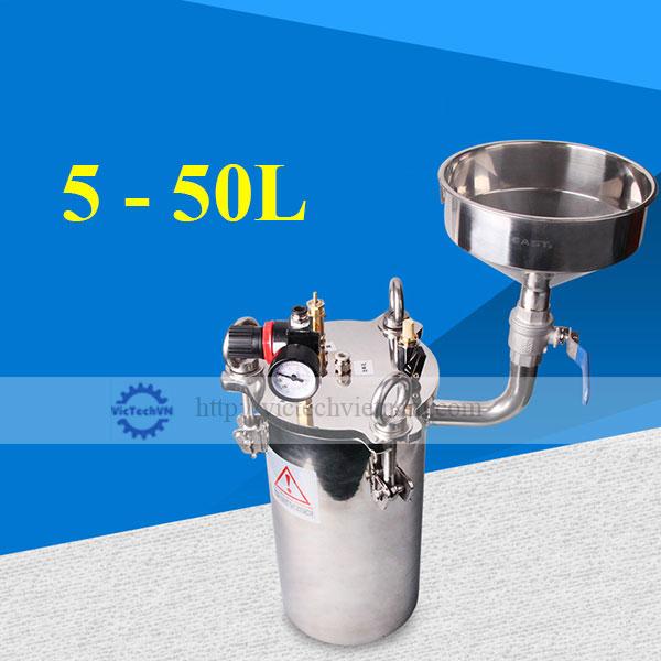 Bể áp lực có phễu 5 - 50L