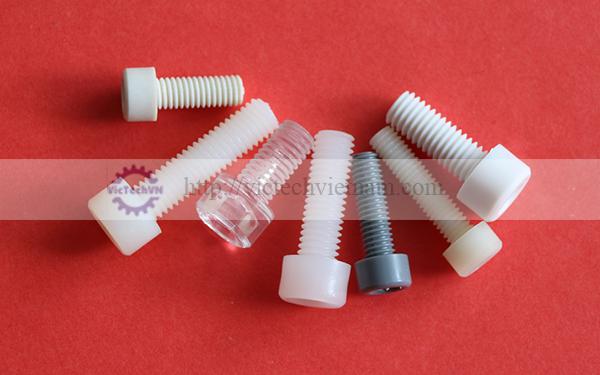 Bulong đầu lục giác chìm nhựa PA66//PP/PVC/PC/PPS/PVDF