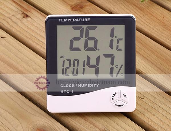 Nhiệt kế và đo độ ẩm HTC-1